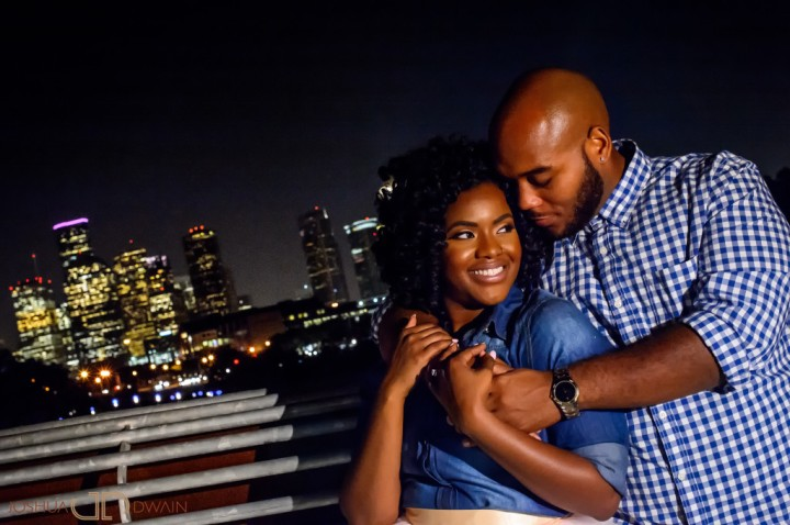 Kiara & Dequaris' Engagement shoot in Houston, Texas