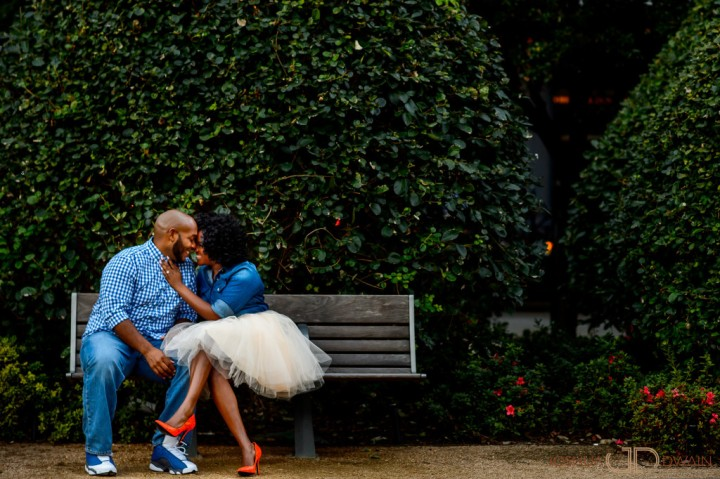 Kiara & Dequaris' Engagement shoot in Houston, Texas