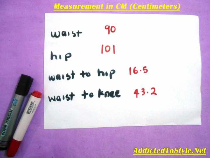 3 measurements